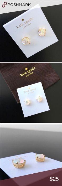 NWT 💯 Kate Spade glitter gumdrop earrings 💕 Brand new Kate Spade glitter gumdrop earrings. No trade please. kate spade Jewelry Earrings