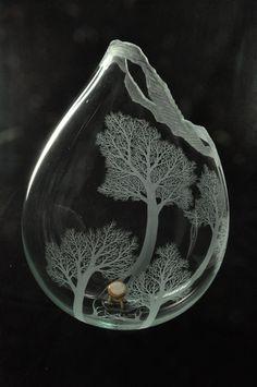 Kayo YOKOYAMA glass art trees