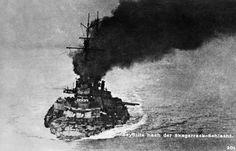 SMS ''Seydlitz'' after the Battle of Jutland.