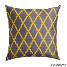 Softline Emeline 20-inch Feather and Down Filled Throw Pillows (Set of 2) (Gold), Size 20 x 20 (Polyester, Geometric)