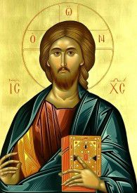 "Orthodox icon of our Lord Jesus Christ ""Pantocrator"" or ""Blessing"". Contemporary icon by the iconographer Dionysios Fentas. (Greece) The name of the store on the icon is just a watermark. The icon will NOT HAVE it. Religious Images, Religious Icons, Religious Art, Byzantine Icons, Byzantine Art, Christus Pantokrator, Christian Artwork, Jesus Christus, Jesus Prayer"