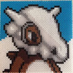 Cubone Pokemon perler beads by perlerdev