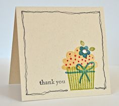 Stampin' Up ideas and supplies from Vicky at Crafting Clare's Paper Moments: Create a Cupcake with extra doodling