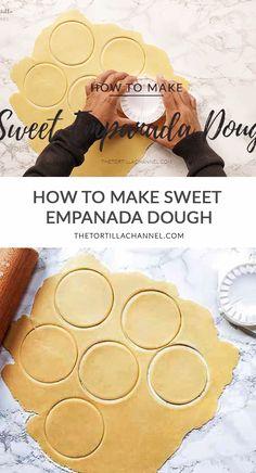 Sweet Empanada Dough Recipe, Easy Pumpkin Empanadas Recipe, Dessert Empanadas Recipe, Mexican Sweet Breads, Mexican Bread, Baked Empanadas, Recipes, Pie, Kitchens