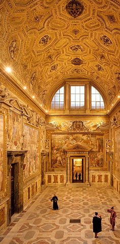 Clementine Hall inside the Apostolic Palace, Vatican City, Rome, Italy.