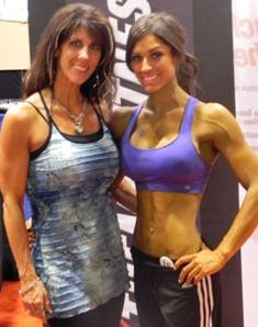Figure Competition Diet Tips and Secrets... She looks amazing, but you can see how the girl on the right's JanTana turned green.