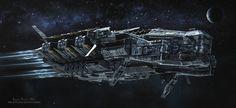 ArtStation - SciFi Destroyer, Antonis Karidis