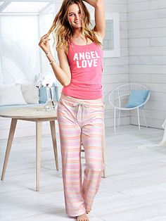 Cute, comfy and just right for lounging: the Pillowtalk Tank Pajama set from Victoria's Secret. Glam graphics and punchy prints make this ultra-soft top and pj pant duo your favorite way to unwind.