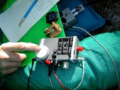 Home brewed QRP SST rig built from scratch and packaged for field on the trail use. QRP ham Radio