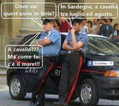 Battute sui carabinieri
