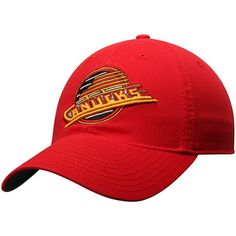 Men s Vancouver Canucks CCM Red Adjustable Slouch Hat 950f580dfeee