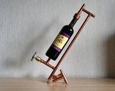 COPPER BOTTLE HOLDER 9, wine holder - wine display - wine furniture - wine expositor - wine equipment - wine accessories - wine presenter