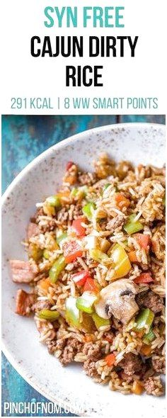 Syn Free Cajun Dirty Rice Pinch Of Nom Slimming World Recipes Syn Free 8 Weight Watchers Smart Points Dirty Rice Slimming World, Slimming World Dinners, Slimming World Diet, Slimming Eats, Slimming Recipes, Slimming World Minced Beef Recipes, Slimming World Fakeaway, Slimming World Lunch Ideas, Slimming Workd