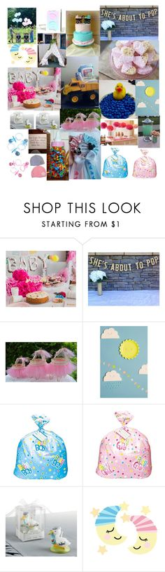 """BABY SHOWER"" by laylaitaly ❤ liked on Polyvore featuring FOOTPRINTS"
