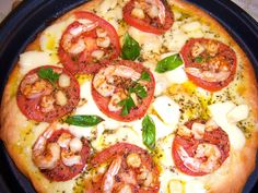 Whats Cookin Italian Style Cuisine: Shrimp and Scallop Margarita Pizza