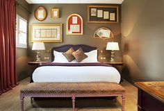 Hotels & Resort, Wonderful Parisian Interiors Design In Luxurious Bedroom With Amazing Decor Chocolate Red Curtain Wooden Bedside Table White Bed Glass Window Headboard: Parisian Interiors Design in Hotel with Special Room Decorations White Bedroom Design, Parisian Decor, Amazing Decor, Luxury Interior Design, House Rooms, Home Decor Inspiration, Luxury Bedding, Bedroom Decor, Bedroom Red