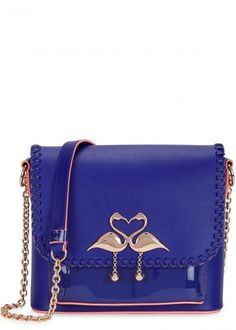 Sophia Webster Purple Leather Crossbody Bag