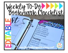 This is a great addition to your teacher binder. Customize it to fit your needs. Simply type in your desired checklist, print, laminate, and go! This checklist is my sanity saver for making sure I'm prepared for my students each day and week.