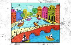 Folk City Amsterdam 2, 60 x 50
