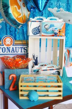 Octonauts Birthday Party Decorations! See more party planning ideas at CatchMyParty.com!