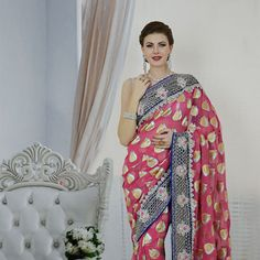 Stunning bridal sarees in a variety of designs. Choose from a vast bridal sarees collection or pick your favorite bridal lehenga in gorgeous colors and bespoke fabrics. Saree Collection, Bridal Collection, Bridal Sarees Online, Indian Bridal Wear, Women Life, Bridal Lehenga, White Women, Magenta, Buddha