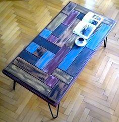 Çelik ayakli puzzle orta sehpa / M boy 100/50cm | zet.com
