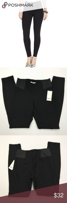 """Bar III Black Legging Pants Bar III black leggings / pants. They are legging style, but look like pants so you can wear them anywhere! Size XS, fits a 0/2 and has a 27"""" inseam. I have a few pair available and some of the store tags are in worse condition than the one in the photo. Pants are brand new, mint condition, and are from a non-smoking/pet-free home. Retail 49.50! Bar III Pants Leggings"""
