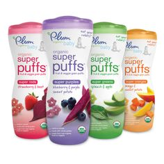 Founded by parents, for parents, discover Plum Organics' complete line of organic baby foods including fruit purees, toddler snacks, & more. Baby Snacks, Toddler Snacks, Baby Foods, Apple Baby Food, Baby Food Recipes, Snack Recipes, Baby Puffs, Teething Biscuits, Biscuits Packaging