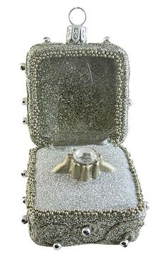 Nordstrom at Home 'Diamond Ring in a Box' Ornament available at #Nordstrom