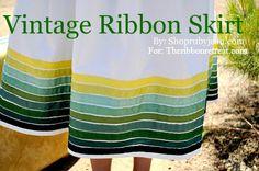 Vintage Ribbon Skirt - TheRibbonRetreat.com