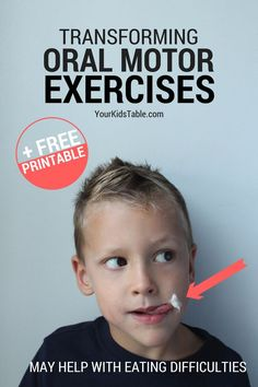 The Most Powerful Oral Motor Exercises for Toddlers and Kids Oral Motor Activities, Speech Therapy Activities, Speech Language Therapy, Sensory Activities, Speach Therapy For Toddlers, Toddler Speech Activities, Therapy Worksheets, Articulation Activities, Preschool Songs