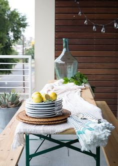 An Italy Reunion Happy Hour cute patio with antique beer garten table Bermuda Triangle, Happy Hour, Italy, Patio, Entertaining, Table Decorations, Antique, Home Decor, Italia