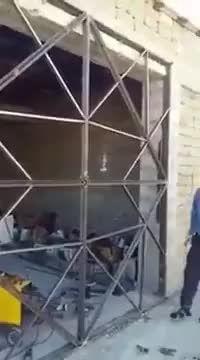 Origami steel gate