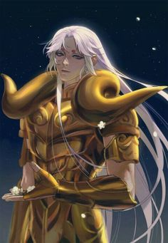 Saint Seiya (聖闘士星矢)・Aries Mu #anime #fanart