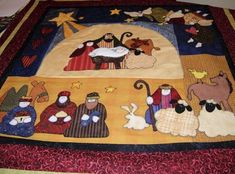 This is incredible. Christmas Patchwork, Christmas Art, Christmas Quilting, Christmas Ideas, Nativity Crafts, Felt Crafts, Christmas Crafts, Small Quilts, Mini Quilts