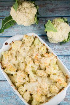 Cheesy Mozzarella Cauliflower Casserole