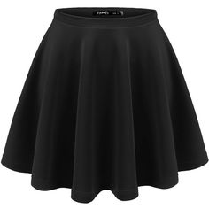Thanth Womens Versatile Stretchy Pleated Flare Short Skater Skirt (375 UYU) ❤ liked on Polyvore featuring skirts, bottoms, saias, black, pleated skater skirt, circle skirt, knee length pleated skirt, pleated skirt and skater skirt