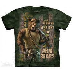 Tricouri The Mountain – Tricou Arm Bears 2nd Amendment T Shirts, Hunting Humor, Funny Hunting, Hunting Gear, 3d T Shirts, Bear Design, Bear T Shirt, Classic T Shirts, Graphic Tees