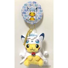 Pokemon Center Sapporo 2017 Renewal Opening Campaign #2 Poncho Pikachu Alola Vulpix Mascot Plush Keychain