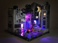The Duel | Another cyber punk build with Light My Bricks lig… | Flickr