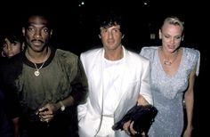 Eddie Murphy, Sylvester Stallone and Brigitte Nielsen Sighting at Spago's Restaurant in Hollywood - September 11, 1986