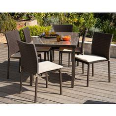Salon de jardin 8 places en teck brut : table carrée 140x140cm + 8 ...