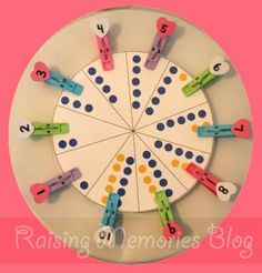 Number Wheel from raisingmemories  #Preschool Activities - #Math  @momsshoppingengine.com #slideshows  cld be like twister/simon says where they cld jump or clap how many ever times of the number it spun to