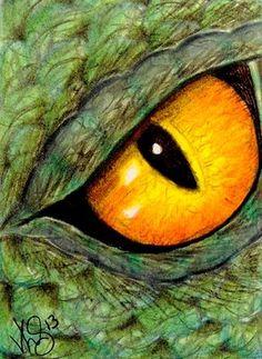 DRAGON EYE   cool idea for art create their own monster/ aliens eye