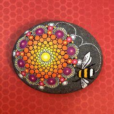 Bumble Bee Mandala Stone Reg by KimberlyVallee on Etsy