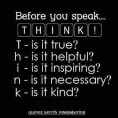 Great Advice!   I need to print this and hang it on my fridge for my kiddos...
