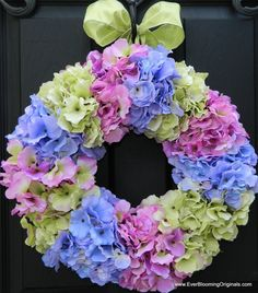 Beautiful & unique wreath from Ever Blooming Originals! Enter to win one of these beauties at: http://www.inspiredbycharm.com/2012/04/another-door-decor-giveaway-from-ever.html