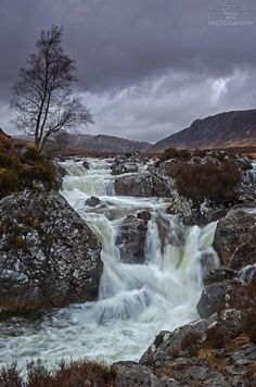 Waterfalls in Rannoch Moor, Highlands, Scotland. - harun avcı - - Waterfalls in Rannoch Moor, Highlands, Scotland. Beautiful Waterfalls, Beautiful Landscapes, Landscape Photography, Nature Photography, Flower Photography, Photography Courses, Contemporary Photography, Photography Magazine, Artistic Photography