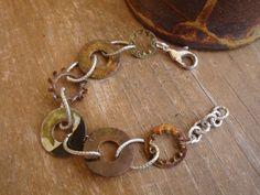 Hardware Jewelry - Oxidized Washer Bracelet - Hardware at Its Finest. $16.00, via Etsy.