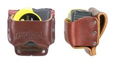 """Occidental Leathers 5037 High Mount Tape Holder holds up to a 35' tape or the Stanley Hand Tools FatMax. Accepts up to a 3"""" work belt."""